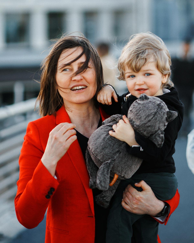 Яна Мандрыкина с сыном Марком