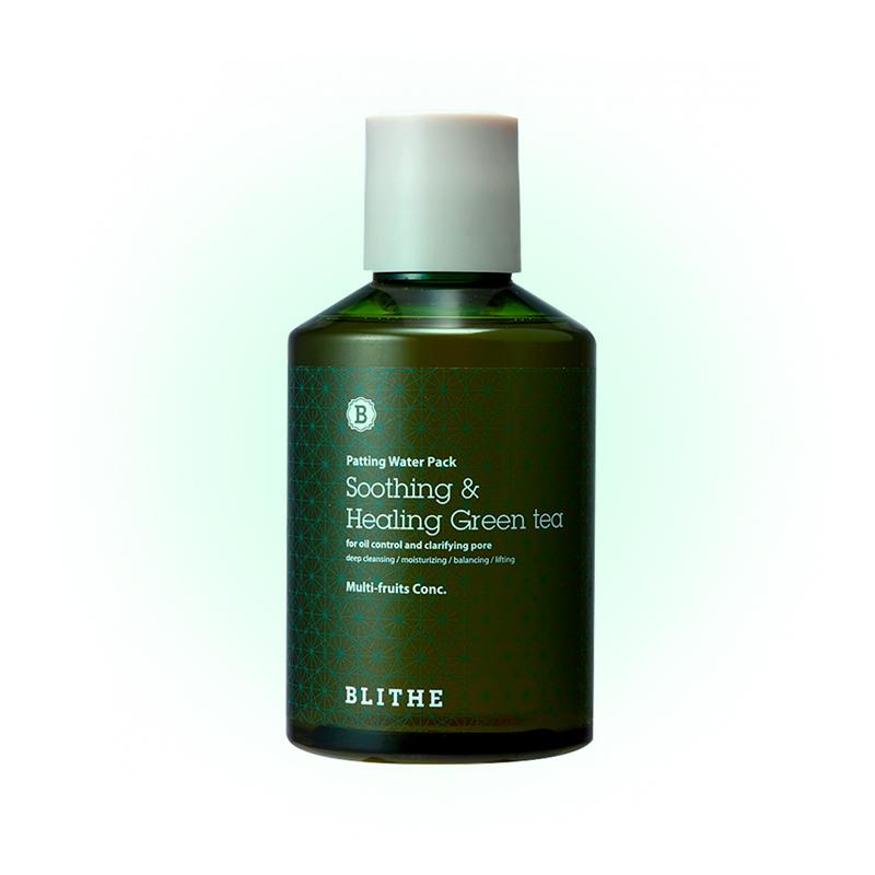 Восстанавливающая сплэш-маска с зеленым чаем Soothing and Healing, Blithe