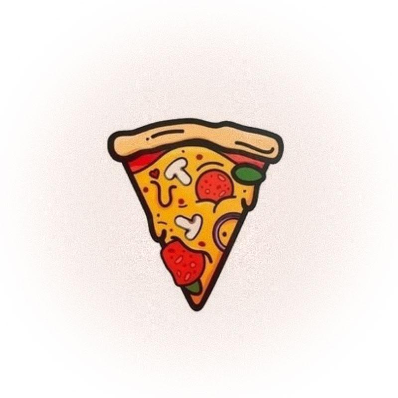 Временное тату Pizza tattoo, Unicorns Out