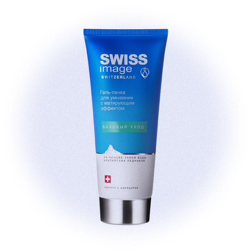Гель-пенка для умывания с матирующим эффектом Swiss image