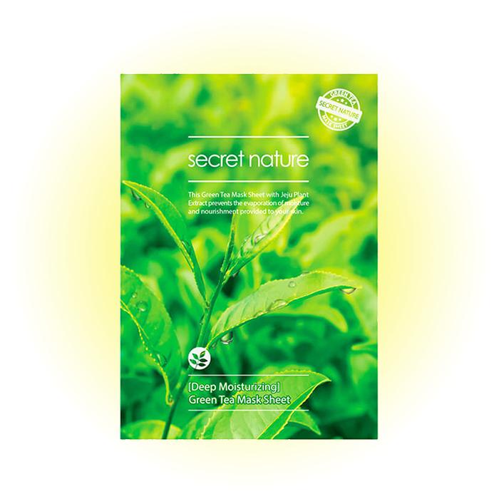 Маска для лица суперувлажняющая Deep Moisturizing Green Tea Mask Sheet, Secret Nature
