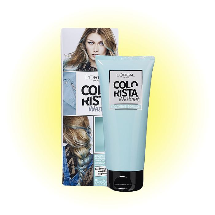Washout, «Голубые волосы», Colorista, L'Oréal Paris